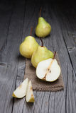 Fresh and tasty pears Stock Images