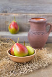 Fresh and tasty pears. Still life with fresh and tasty pears Stock Photography