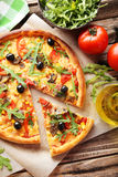 Fresh tasty pizza Royalty Free Stock Images