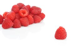 Fresh and tasty raspberry. Close up Royalty Free Stock Images