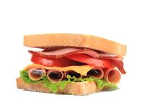 Fresh and tasty sandwich close up. Stock Photos