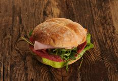 Fresh tasty sandwich royalty free stock images