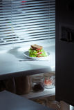 Fresh and tasty sandwich on the plate Royalty Free Stock Photo