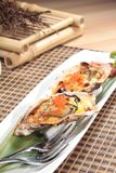 Fresh and tasty seafood cuisine. Seafood cuisine of shrimp, abalone, squid, mussel, oyster or scallop Royalty Free Stock Photo