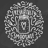 Fresh tasty smoothie. Royalty Free Stock Photo