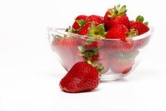 Fresh and tasty strawberries. On white background Stock Photo