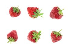 Fresh and tasty strawberries. Isolated on white Stock Photos
