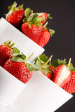 Fresh and tasty strawberries. Closeup Stock Photos