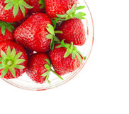 Fresh and tasty strawberries. Isolated on white Stock Photo