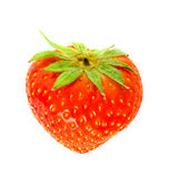 Fresh and tasty strawberries. Isolated on white background Stock Image