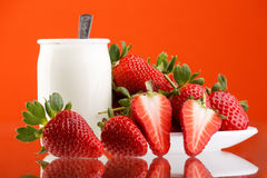 Fresh and tasty strawberries Stock Images