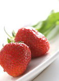Fresh and tasty strawberries. On white background Stock Photography