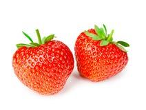 Fresh tasty strawberries isolated on white background Royalty Free Stock Photography
