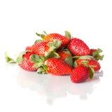 Fresh tasty strawberries on a white Stock Image