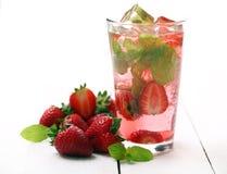 Fresh tasty strawberry and mint mojito Royalty Free Stock Photo