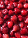 Fresh tasty strawberry syrup red sweet dessert stock images