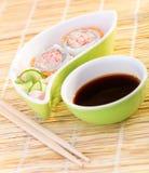 Fresh tasty sushi Royalty Free Stock Photo