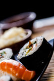 Fresh and tasty sushi from Japan Royalty Free Stock Photos
