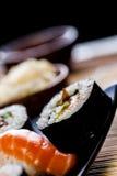 Fresh and tasty sushi from Japan. Fresh and tasty Japanese sushi set Royalty Free Stock Photos