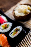 Fresh and tasty sushi from Japan Stock Images