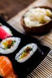 Fresh and tasty sushi from Japan. Fresh and tasty Japanese sushi set Stock Images