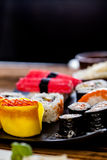 Fresh and tasty sushi from Japan Stock Photo