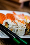 Fresh and tasty sushi from Japan. Fresh and tasty Japanese sushi set Stock Photography
