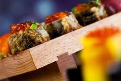 Fresh and tasty sushi from Japan. Fresh and tasty Japanese sushi set Stock Photo