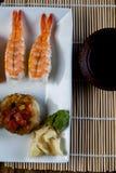 Fresh and tasty sushi from Japan. Fresh and tasty Japanese sushi set Royalty Free Stock Image