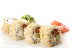 A fresh and tasty sushi roll Stock Photo