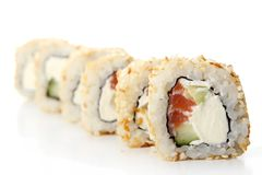 A fresh and tasty sushi roll Royalty Free Stock Photos