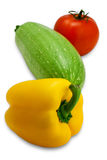 Fresh tasty vegetables (with clipping path). Different fresh tasty vegetables isolated on white background Royalty Free Stock Images