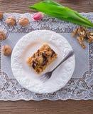 Walnut caramel cake Royalty Free Stock Photography