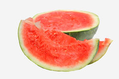 Fresh tasty watermelon. Isolated on white background Royalty Free Stock Photography