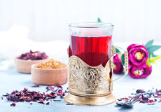 Fresh tea. From dry flowers, flowers tea Royalty Free Stock Photos