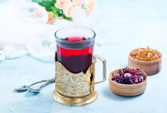Fresh tea. From dry flowers, flowers tea Stock Photography