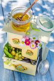 Fresh tea with honey with in summer Stock Image