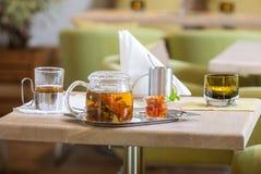 Fresh tea with jam Royalty Free Stock Photo