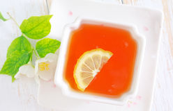 Fresh tea. Tea with jasmin in cup Royalty Free Stock Image