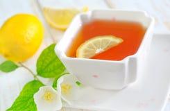 Fresh tea. Tea with jasmin in cup Stock Images