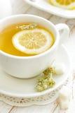 Tea. Fresh tea with lemon and herbs Stock Image