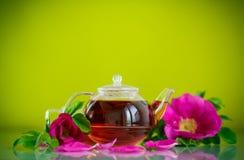 Fresh tea with rosehip Stock Photo