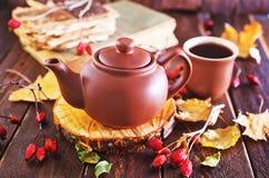 Fresh tea in teapot Royalty Free Stock Photo