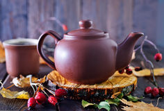 Fresh tea in teapot Royalty Free Stock Images