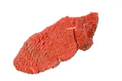 Fresh, Tenderized Beef Steak Royalty Free Stock Photos