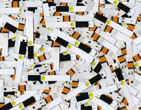 Fresh test strips. Unused test strips for the analysis of blood glucose Royalty Free Stock Photos
