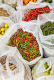 Fresh thai chili pepper. At market in thailand Stock Images