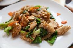Fresh thai food. Fresh thai street food on a plate Stock Image