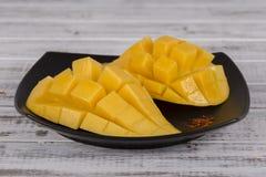 Fresh thai mango, close up Stock Photo