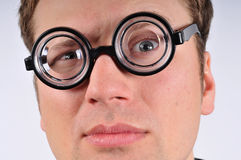 Fresh thinking, nerd, geek Stock Photography